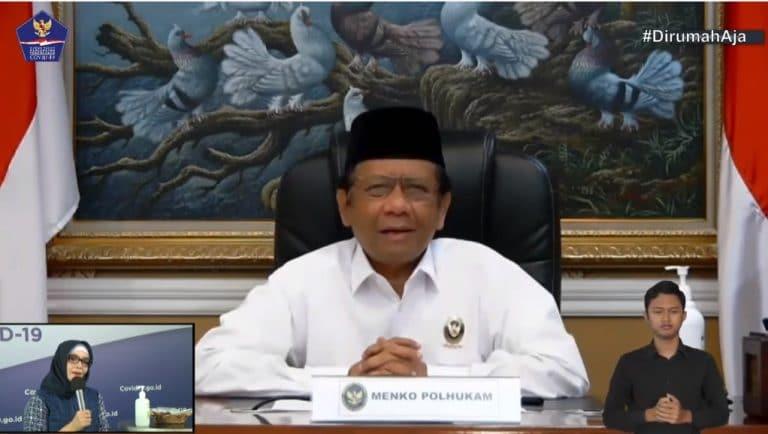 Menko Polhukam : Larangan Mudik Berlaku Di Seluruh Wilayah Indonesia