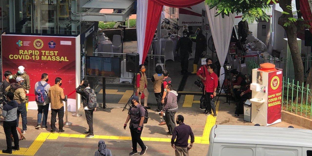 BIN Lakukan Rapid Tes Massal di Blok M Jakarta