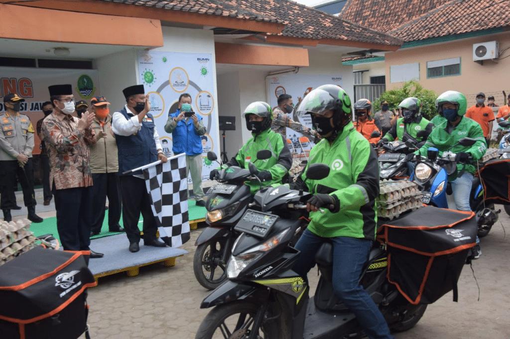 Wakil Gubernur Jawa Barat Lepas Distribusi Bansos Untuk Kab.Cirebon