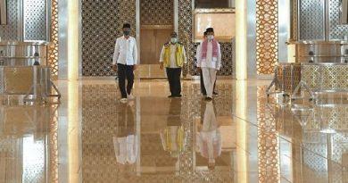 Jokowi Tinjau Kesiapan Pedoman Kenormalan Baru di Masjid Istiqlal